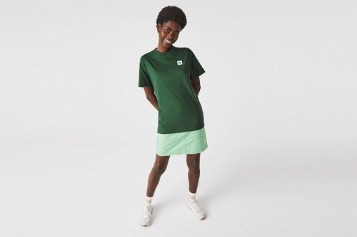 Camiseta Lacoste CAMISETA UNISEX CON PARCHE verde