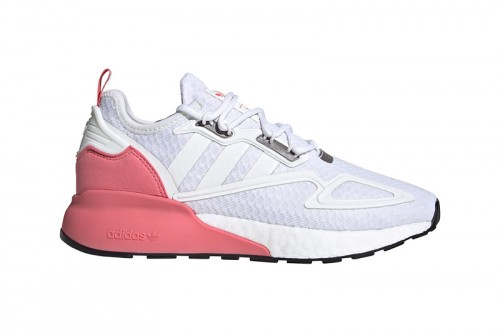 Zapatillas adidas ZX 2K BOOST Blancas y rosas