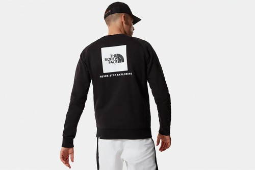 Sudadera The North Face M RAG REDBX CREW NEW Negra