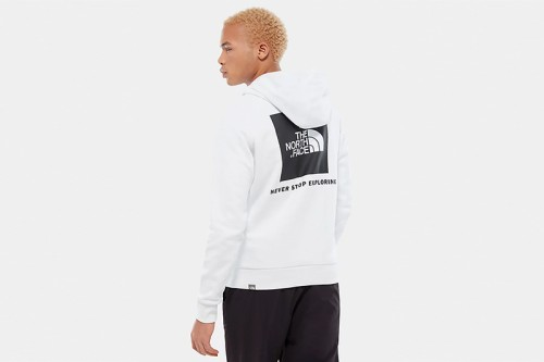 Sudadera The North Face M RAGLAN RED BOX HD blanca