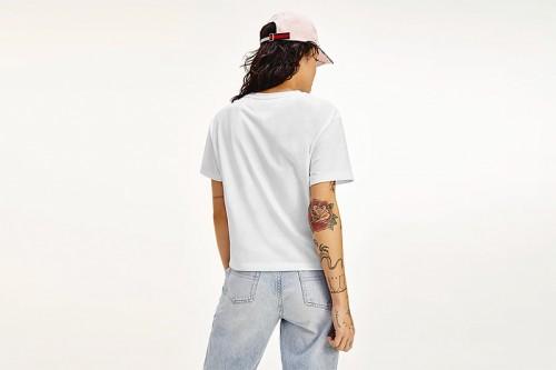 Camiseta Tommy Hilfiger BADGE TEE blanca