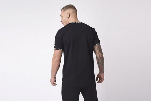Camiseta Project X Paris empiècement militaire reflect negra