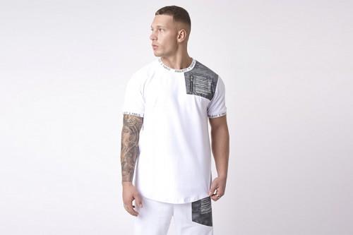 Camiseta Project X Paris empiècement militaire reflect blanca