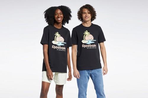 Camiseta Reebok CL SR GRAPHIC TEE negra