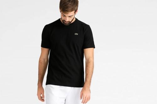 Camiseta Lacoste Básica Negra