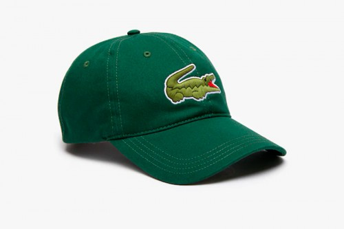 Gorra Lacoste cocodrilo oversized verde