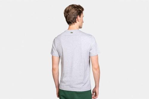 Camiseta Lacoste Logo Craquel Gris