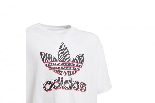 Camiseta adidas GRAPHIC PRINT CROP blanca