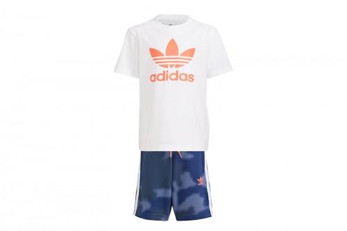Camiseta adidas Y PANTALÓN CAMUFLAJE PRINT azul