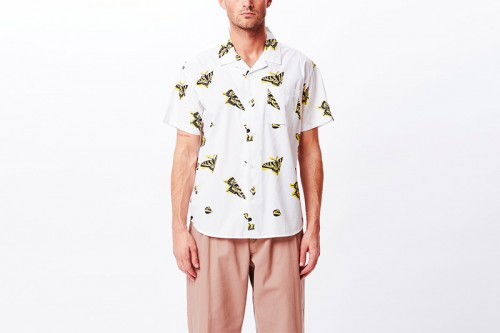 Camisa Obey BUTTERFLY WOVEN blanca