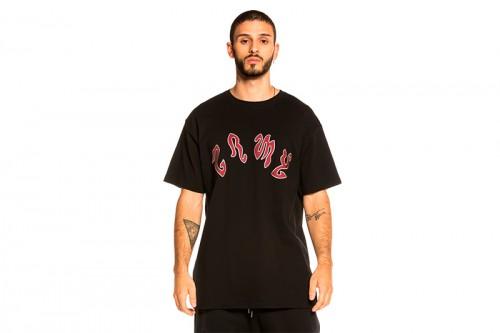 Camiseta GRIMEY YOGA FIRE TEE negra