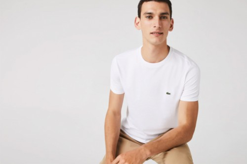 Camiseta Lacoste Básica Blancas