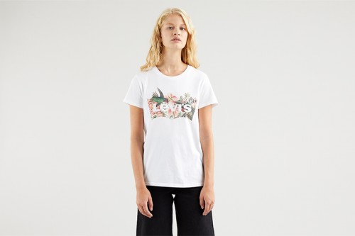 Camiseta Levi´s The Perfect Tee Batwing Fill blanca