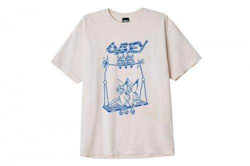 Camiseta Obey CAST OUT SAGO blanca