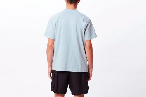 Camiseta Obey POINT ORGANIC POCKET azul