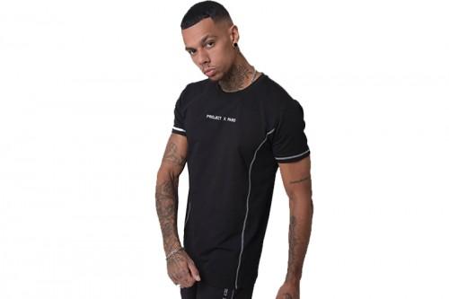Camiseta Project X Paris PXP T-SHIRT BLK/WHT negra
