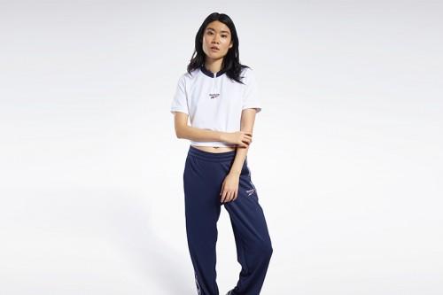 Camiseta Reebok CROPPED V NECK TEE blanca