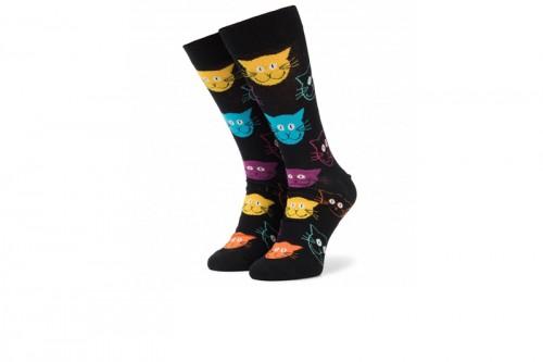 Happy Socks Calcetines Cat Sock Negras