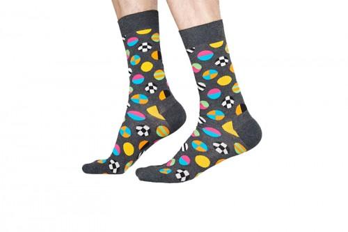Happy Socks Calcetines Clashing Dot Sock Grises
