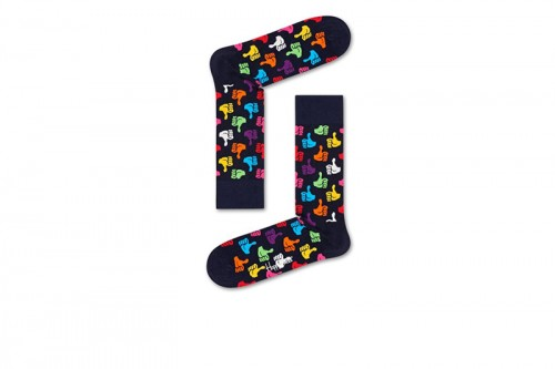 Happy Socks Calcetines Thumbs Up Sock Negras