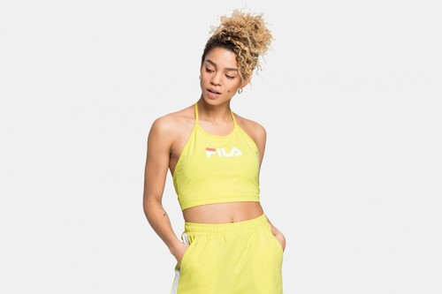 Top Fila WOMEN BEBE halter neck amarillo