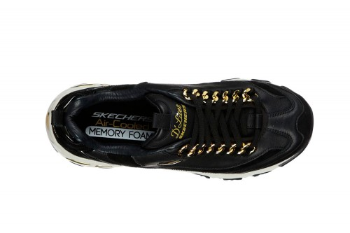 Zapatillas Skechers D'LITES 3 - GOLDEN IDEA Negras