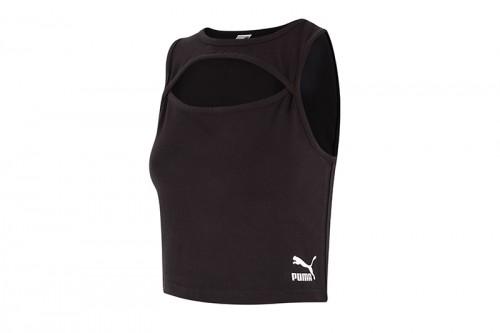 Camiseta Puma Classics Cut-Out By Pedroche negra