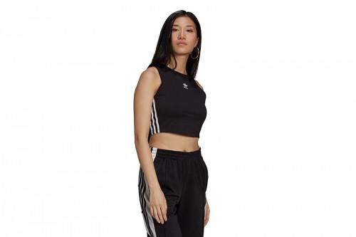 Top adidas ADICOLOR CLASSICS CROPPED negro