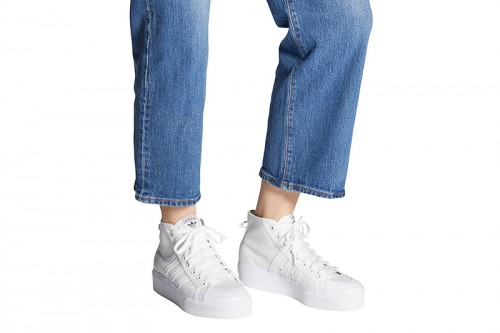 Zapatillas adidas NIZZA PLATFORM MID Blancas