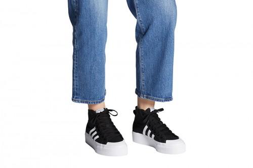 Zapatillas adidas NIZZA PLATFORM MID Negras