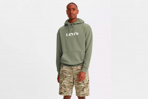 Sudadera Levi's RELAXED GRAPHIC verde