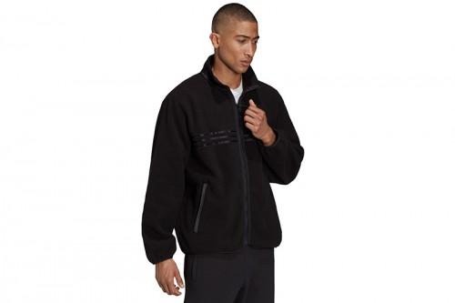 Chaqueta adidas 2000 LUXE ZIP-UP FLEECE negra